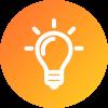 energy efficiency lightbulb icon